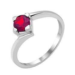 Серебряное кольцо с рубином 000135483