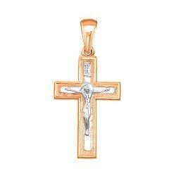 Золотой крестик в комбинированном цвете 000138597
