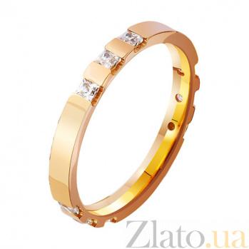 Золотое обручальное кольцо Semper Amemus с фианитами TRF--412931