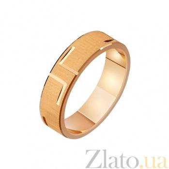 Золотое обручальное кольцо Первый поцелуй TRF--411213