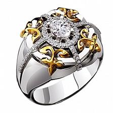 Мужское кольцо из золота с бриллиантами Жак де Моле