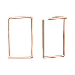 Золотые серьги Рамки в геометрическом стиле
