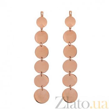 Серьги из красного золота Семирамида TNG--400065