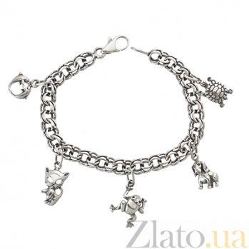 Серебряный браслет Фауна ONX--14275