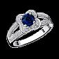 Сапфировое кольцо в белом золоте с микро-павє Chance of Love R-CL-W-sap-diam