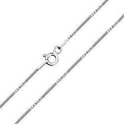 Серебряная цепочка в плетении снейк с  насечками 000127949