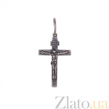 Крестик из серебра Всевышний HUF--3115-МЧ ин