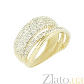 Золотое кольцо с фианитами Хильда 2К765-0032
