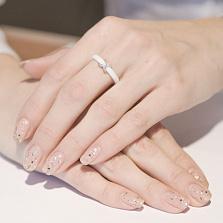 Кольцо из керамики и серебра Констанция