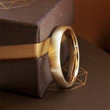 Золотое обручальное кольцо Мир в желтом цвете