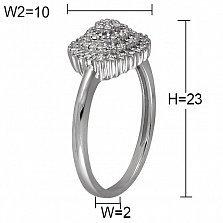 Кольцо Величие из белого золота с бриллиантами
