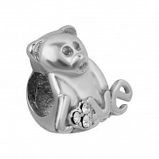 Шарм из серебра Медвежонок Love