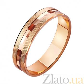 Золотое обручальное кольцо Взаимное желание TRF--411085