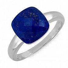 Кольцо из белого золота с лазуритом Небесное царство