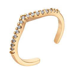 Кольцо из желтого золота с фианитами 000121364