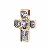 Серебряный крест Архангел Михаил с позолотой и чернением