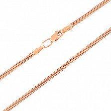 Золотая цепь Мальва в плетении мягкий снейк, 1мм