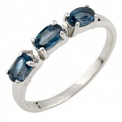 Серебряное кольцо Консуэло с топазом лондон