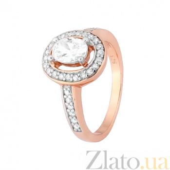 Позолоченное серебряное кольцо с фианитами Марион 000028414