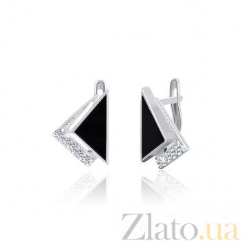 Серебряные серьги с фианитами Китнисс SLX--СК2ФО/022
