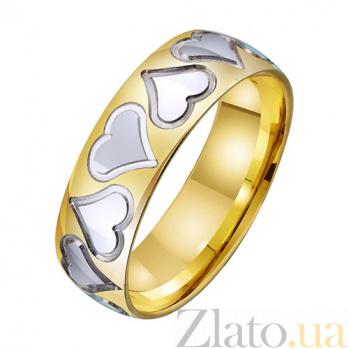Золотое обручальное кольцо Любящее сердце TRF--431435