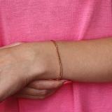 Золотой браслет Кальвер в красном цвете