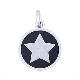 Серебряный медальон Старлайт с черной эмалью