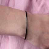 Плетенный черный браслет Мильн с серебряной застежкой
