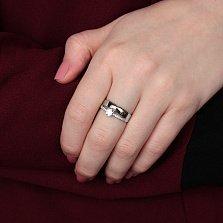 Кольцо из белого золота с фианитами Валетта
