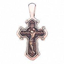 Золотой крест с чернением Верование