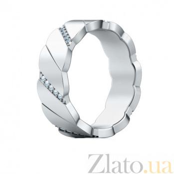 Золотое обручальное кольцо с бриллиантами Мой милый ангел: Лёд и пламя 483