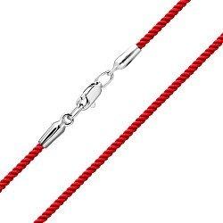 Браслет из серебра и красной крученой нити 000140571