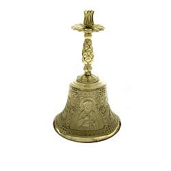 Бронзовый колокольчик Св. Петр и Св. Павел с подсвечником 000004429