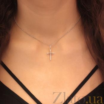Серебряный крестик с фианитами Илария 000025292