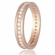 Позолоченное серебряное кольцо Авалон с фианитами