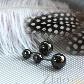 Серебряные серьги Пирсинг от Диор с черным родием по всей поверхности 000057048