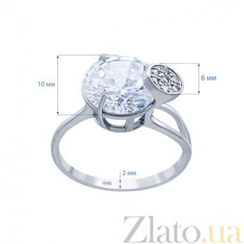 Серебряное кольцо с куб. цирконом Либерти AQA-71781б