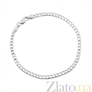 Серебряный браслет Джаз с родированием, 19 см 000027427