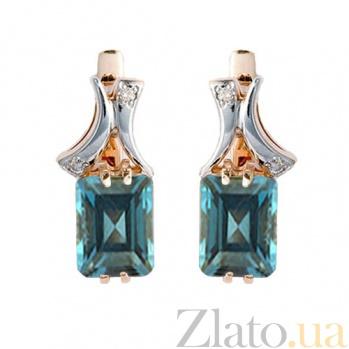 Золотые серьги с топазами и бриллиантами Вайле ZMX--ET-6260_K