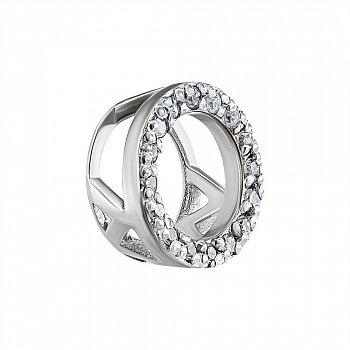 Кулон з білого золота з діамантами 000135396