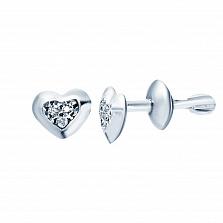 Серебряные серьги Элиза с фианитами