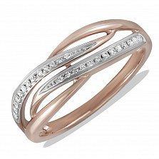 Кольцо Галина из комбинированного золота с бриллиантами