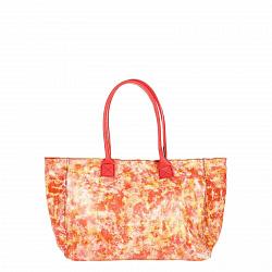 Кожаная сумка на каждый день Genuine Leather 8022 розового цвета с пятнистым принтом, на молнии