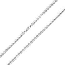 Серебряная цепочка Вэйд с родированием 000030823