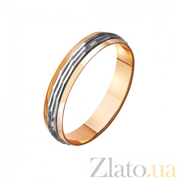 Золотое обручальное кольцо Ad infinitum TRF--421083