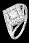Серебряное кольцо с цирконием Ксантия 000025542