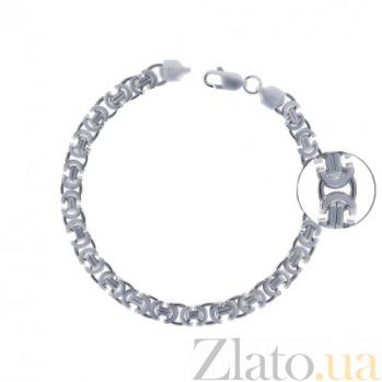 Серебряный браслет чернёный Евро, 6мм 000017343