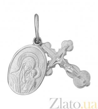 Крестик с ладанкой из серебра Берегиня 000025345