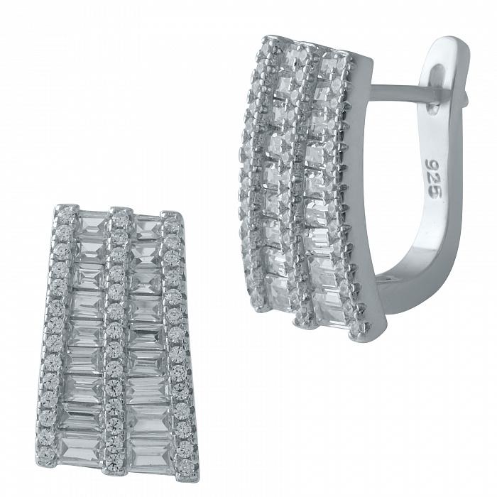 Серебряные серьги Ливадия с фианитами 000069057