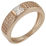 Золотое кольцо Эмили с фианитами